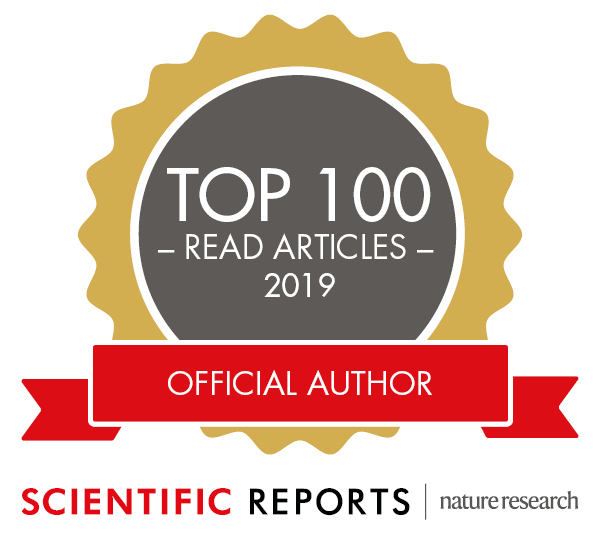 """top 100 read articles of 2019, Scientific Reports"""
